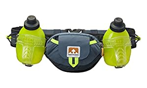 Nathan Trail Mix Plus - hydration water bottle waist belt - 600ml - Bluestone : 4637NDSS
