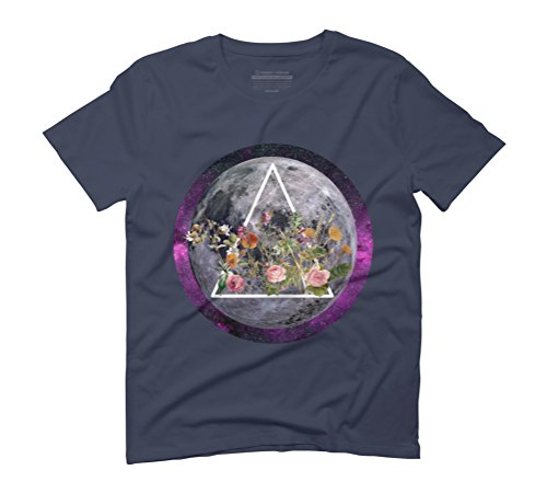 BLOSSOM Men's Graphic T-Shirt - Design By Humans Navy