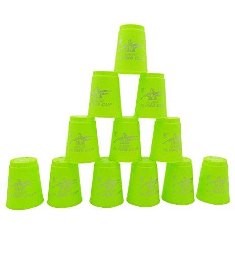 Flyingcup 12/Set, mamum 12/Set Magic Flying Cup Spiel mit Hilfe der Leistungssport Toys blau/rot/orange/gelb/grün Einheitsgröße grün (Kunststoff-einweg-bier-gläser)