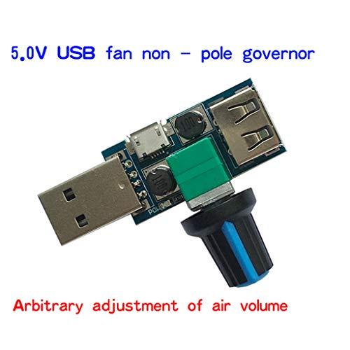 Xineker Geschwindigkeitsregler, USB DC, 4 - 12 V, Geräuschreduzierung, Regler für verschiedene Stands -