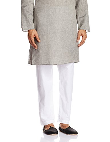 Peter England Men's Cotton Pyjama (8907155703591_POPJ3140001_White_92)