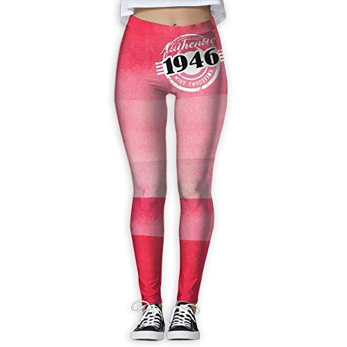 QIAOJIE Authentic 1946 Mint Condition Women's Full-Length Yoga Workout Leggings Thin Capris -