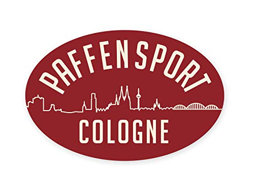 Paffen Sport Aufkleber Cologne, Vintage rot, oval 145 x 95 mm