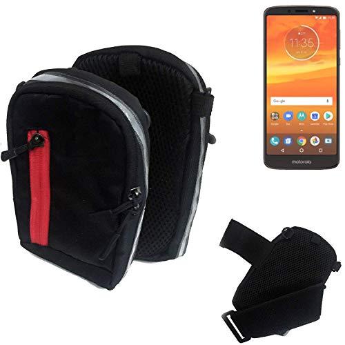 K-S-Trade Outdoor Gürteltasche Umhängetasche für Motorola Moto E5 Plus Dual-SIM schwarz Handytasche Case travelbag Schutzhülle Handyhülle