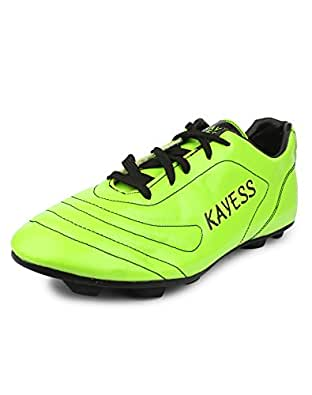 Kayess 103 Viprr Synthetic Leather PVC sole Football shoes for Boys (4 UK, ParrotBlack)