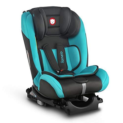 Lionelo Sander Kindersitz Auto Kindersitz Isofix in und gegen Fahrtrichtung Top Tether Autositz Gruppe 0 1 2 3 ab Geburt bis 36 kg ECE R 44 04 TÜV SÜD (Türkis)