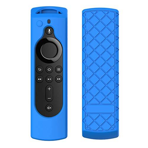Hunpta@ Case Für Amazon Fire TV Stick 4K, TV Stick Remote Silikon Hülle Schutzhülle Haut (Blau)