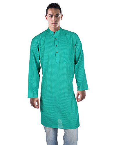 Royal Cotton Kurta Green For Men By Rajrang