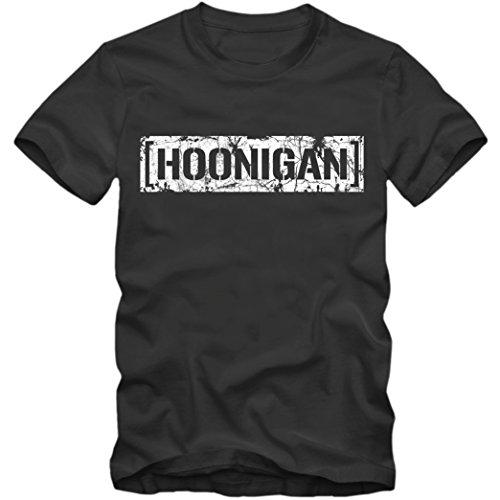 Hoonigan T-Shirt Herren Vintage Shirt Motorsport Rallye Gymkhana Hoonicorn Ken Block, Farbe:dunkelgrau (dark grey);Größe:XXL (Motorsport Racing Shirt)