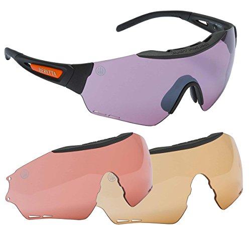 Beretta Puull Safety Shooting Glasses Eye Protection 3 Lenses Range Field