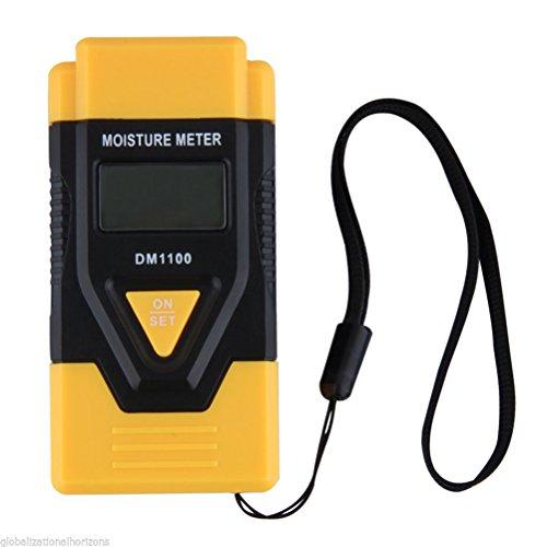 PIXNOR 3 in 1 digitale LCD legno misuratore di umidità / igrometro Tester di umidità per legno legna da ardere carta cartone materiali temprati (giallo)