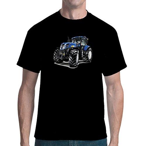Traktoren unisex T-Shirt - Traktor New Holland T7070 by Im-Shirt - Schwarz XL