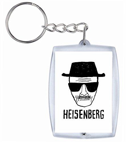 Druckerlebnis24 Schlüsselanhänger Heisenberg mit Sonnenbrille Hut- Kult Fun aus hochwertigem Acryl - Keyring- Schlüsselring - Spass- Kult- DVD- Fun- JGA