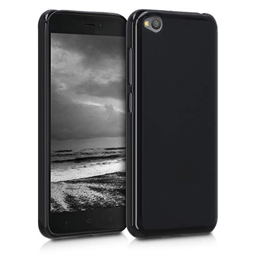 kwmobile Funda para Xiaomi Redmi Go - Carcasa para móvil en TPU Silicona - Protector Trasero en Negro Mate