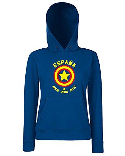 T-Shirtshock - Sweats a capuche Femme WC0105 ESPANA SPAGNA SPAIN Bleu Navy