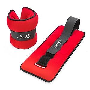 #DoYourFitness® 2er Set Neopren Handgewichte & Fußgewichte (0,5kg 1kg 1,5kg 2kg 3kg) – Gewichtsmanschetten mit weicher Oberfläche für Hand- & Fußgelenke