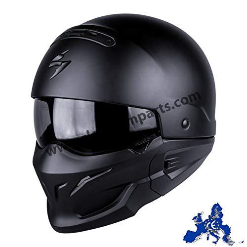 Scorpion Motorradhelm Exo Combat, Schwarz, Größe M