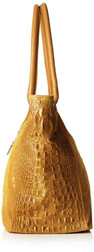 Chicca Borse 80042, Borsa a Mano Donna, 53 x 30 x 16 cm (W x H x L) Marrone (Cuoio)