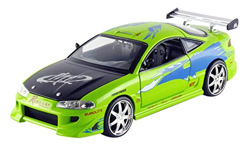 Jada Toys – 97603 Gr – Mitsubishi Eclipse – Fast and Furious – Escala 1/24 – Verde