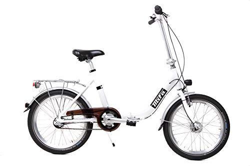20 Zoll Alu Klapp Fahrrad Klapprad Folding Bike Shimano 3 Gang Nabendynamo Weiss