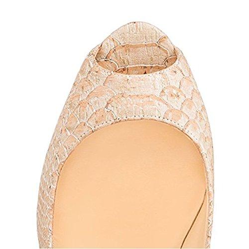 MERUMOTE - Scarpe con Plateau donna Snakeskin