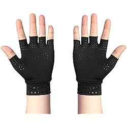 Anti-Arthritis Handschuhe mit Magneten, Rheumatoide Hand Schmerzen Gesundheit Kompressionstherapie, Beruhigt Schmerzende Hände(Schwarz)