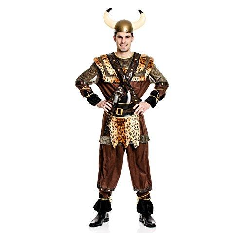 Kostümplanet® Wikinger-Kostüm Herren Männer Größe (Krieger Herren Erwachsene Wikinger Kostüme)