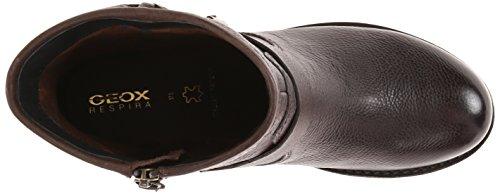 Geox D New Virna, Stivali da Motociclista Donna Marrone (Dk Coffee C6024)