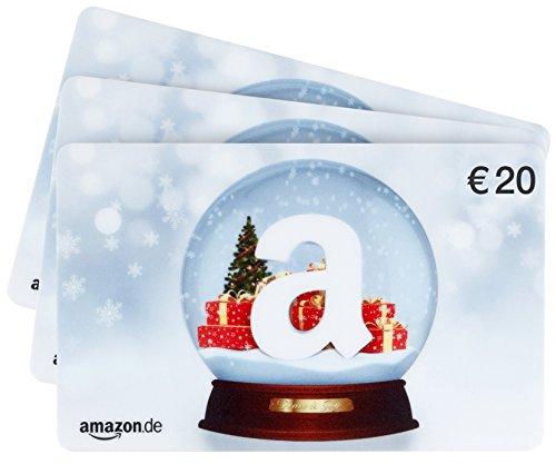 Amazon.de Geschenkkarte - 3 Karten zu je 20 EUR (Schneekugel) (Schneekugel österreich)