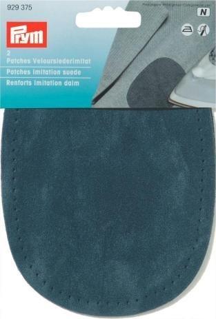 Prym-14 x 10 cm, confezione da 2 toppe in finto scamosciato, per stirare, cucito-pois, colore: blu Navy