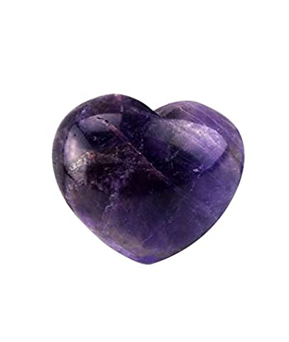 30mm Natural Crystal Puff Heart Worry Healing Stone W Mxsabrina