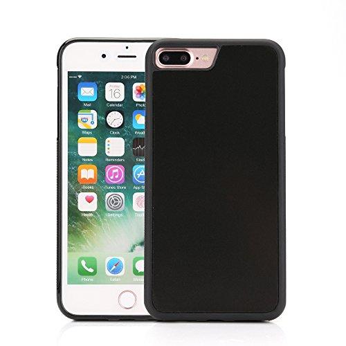 Zogin Coque Anti-Gravité en Nano Nanomatière pour iphone 7 Plus Case Antigravity Ultra fin Housse Etui Cover Couverture TPU Arrière de Protection pour Coller aux Surfaces planes, lisses et non poreuse Noir