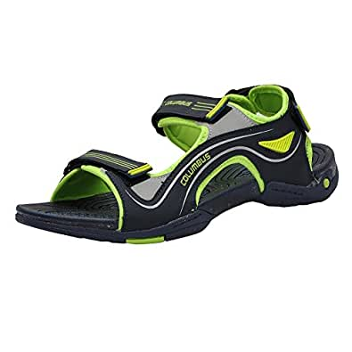 Columbus Men's Blue and Green Sandals and Floaters (AB-771) - UK 10