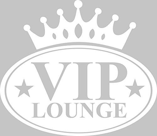 GRAZDesign 720424 Wandtattoo Wandaufkleber Wand Deko VIP Lounge Küche Krone Sterne Schriftzug
