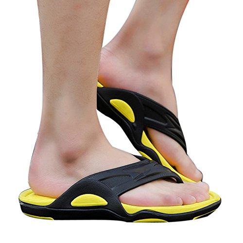 Sconto!,infradito uomo in pu styledresser uomo estate pantofole da all'apertopelle per mare spiaggia antiscivolo casual infradito massaggio 2018