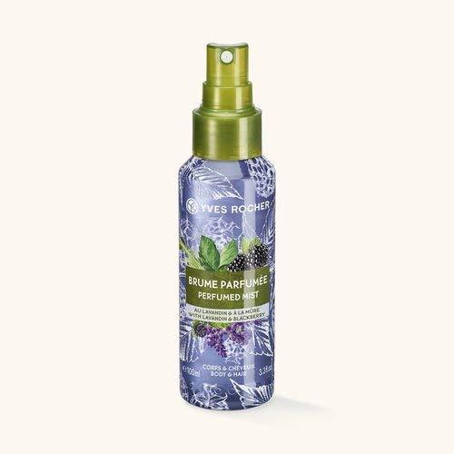 Lavendel Körper-spray (Yves Rocher LES PLAISIRS NATURE Duftspray Lavendel-Brombeere, Erfrischungsspray für Körper & Haare, 1 x Pump-Flacon 100 ml)
