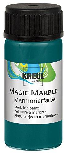KREUL 73213 Magic Marble Marmorierfarbe, 20 ml, türkis
