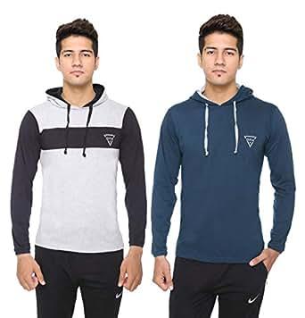 DFH Men Hooded T-Shirt (Pack of 2)