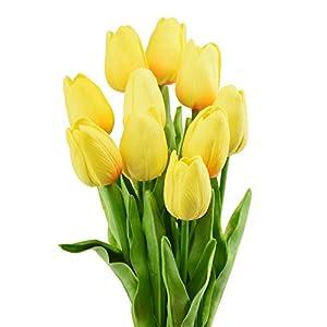 FiveSeasonStuff – Ramo de flores artificiales, 10 tallos de tacto real, perfecto para bodas, novias, fiestas, hogar…