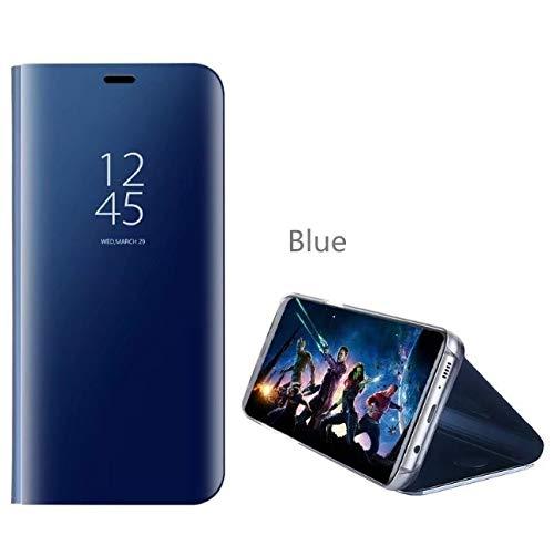5g Cover (BELLA BEAR Case für Samsung Galaxy S10 5G,Spiegelkoffer Klammerfunktion Vollbildschutz Abdeckung Cover for Samsung Galaxy S10 5G-Blau)