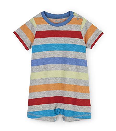 Hatley Baby-Jungen Rompers Spieler, ((Multicoloured Rainbow Stripes), ((Herstellergröße: 6-9 Monate)