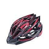 SJZC Helm Fahrradhelm Abus Fahrrad Damen Herren Casco Aktiv MTB Radhelm Uvex Helmet86,red,M