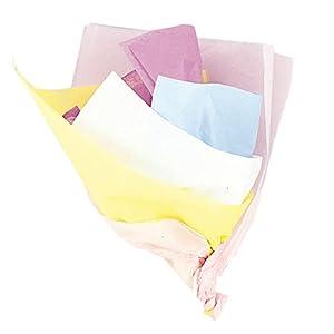 Unique Party- Paquete de 10 hojas de papel de seda, surtido colores pastel, 6299)