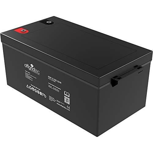 Offgridtec® AGM 260Ah 20HR 12V - Solar Batterie Akku Extrem zyklenfest