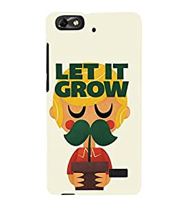 Takkloo let it grow beard quote, mustache quotecute guyanimated guyplant ) Printed Designer Back Case Cover for Huawei Honor 4C :: Huawei G Play Mini