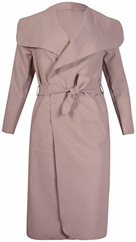 à manches longues pour femmes femme extensible col poche ceinture noeud veste cardigan Uni trench-coat Pierre