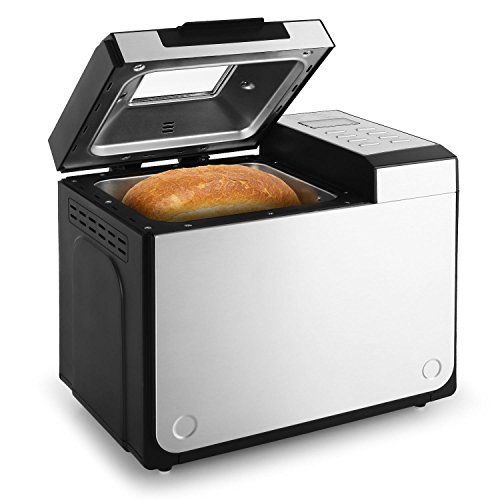 Klarstein Country Life • Machine à pain • 615 Watts • Degré de brunissement réglable • Fonction Timer • 12 programmes de cuisson • Programme confiture • Programme rapide • Antiadhésif • Argent