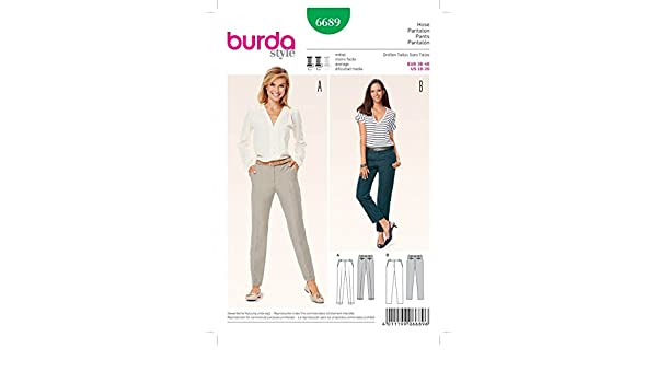 sewing projects for the home uk. burda ladies sewing pattern 6689 narrow trouser pants with pockets projects for the home uk