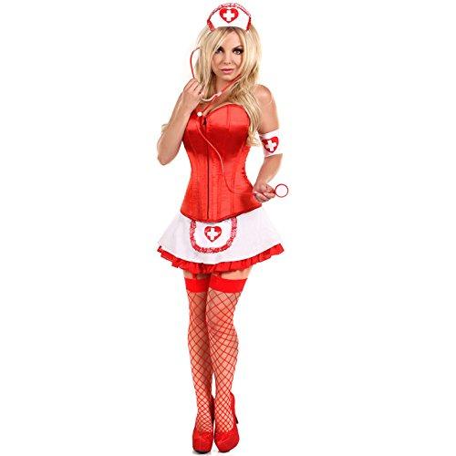 Pin-up-Krankenschwester-Kostüm (Korsett Kostüm Up Pin)
