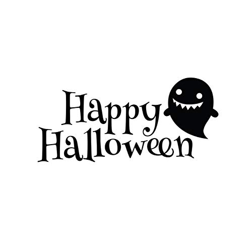 Wandaufkleber Aufkleber Wandbild für Mädchen Jungen Vinyl für Zuhause Kunst Dekor Zitate Happy Halloween 42x40cm (Halloween-karte, Happy Farbe)